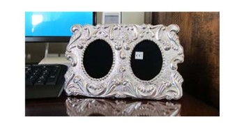 Sterling Silver Picture Frame - Geminis