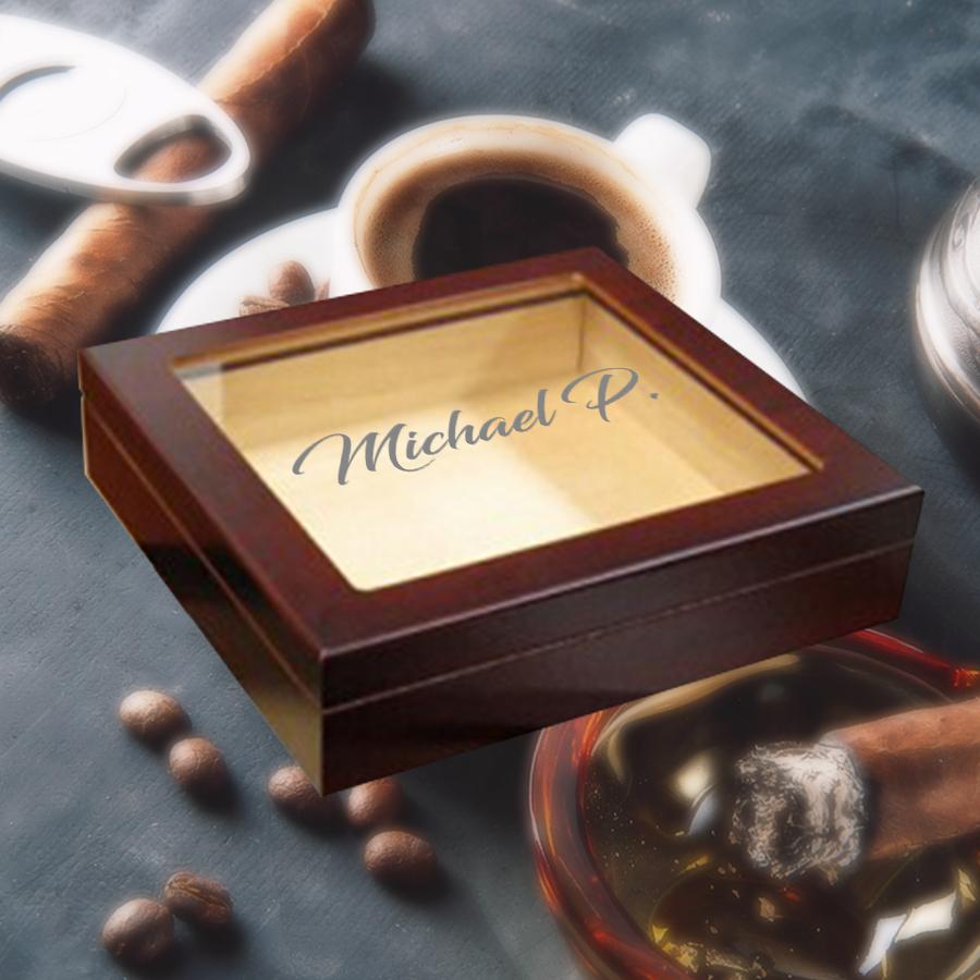 Housewarming Gifts - Personalized Cigar Humidor