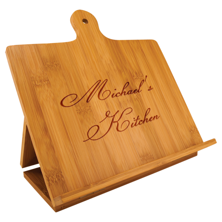 Personalized Tablet or Recipe Book Stand