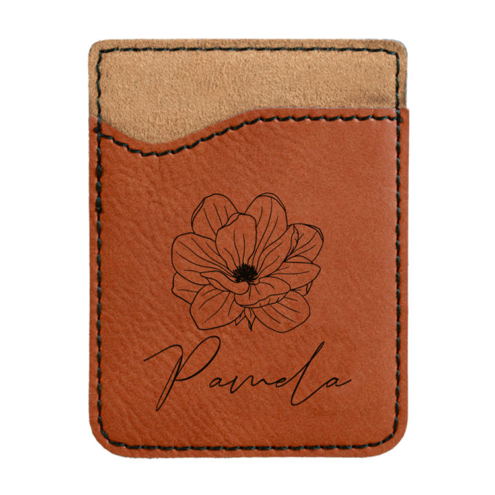 faux leather phone wallet