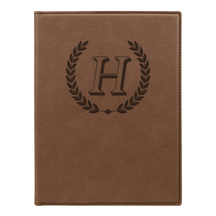 faux leather portfolio with notepad