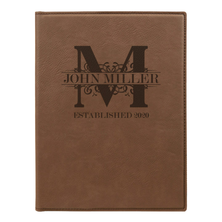 faux leather leatherette portfolio with notepad