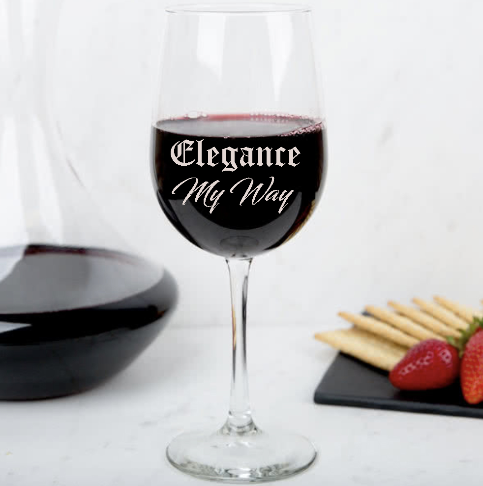 Personalized Wine Glass for Your Mom
